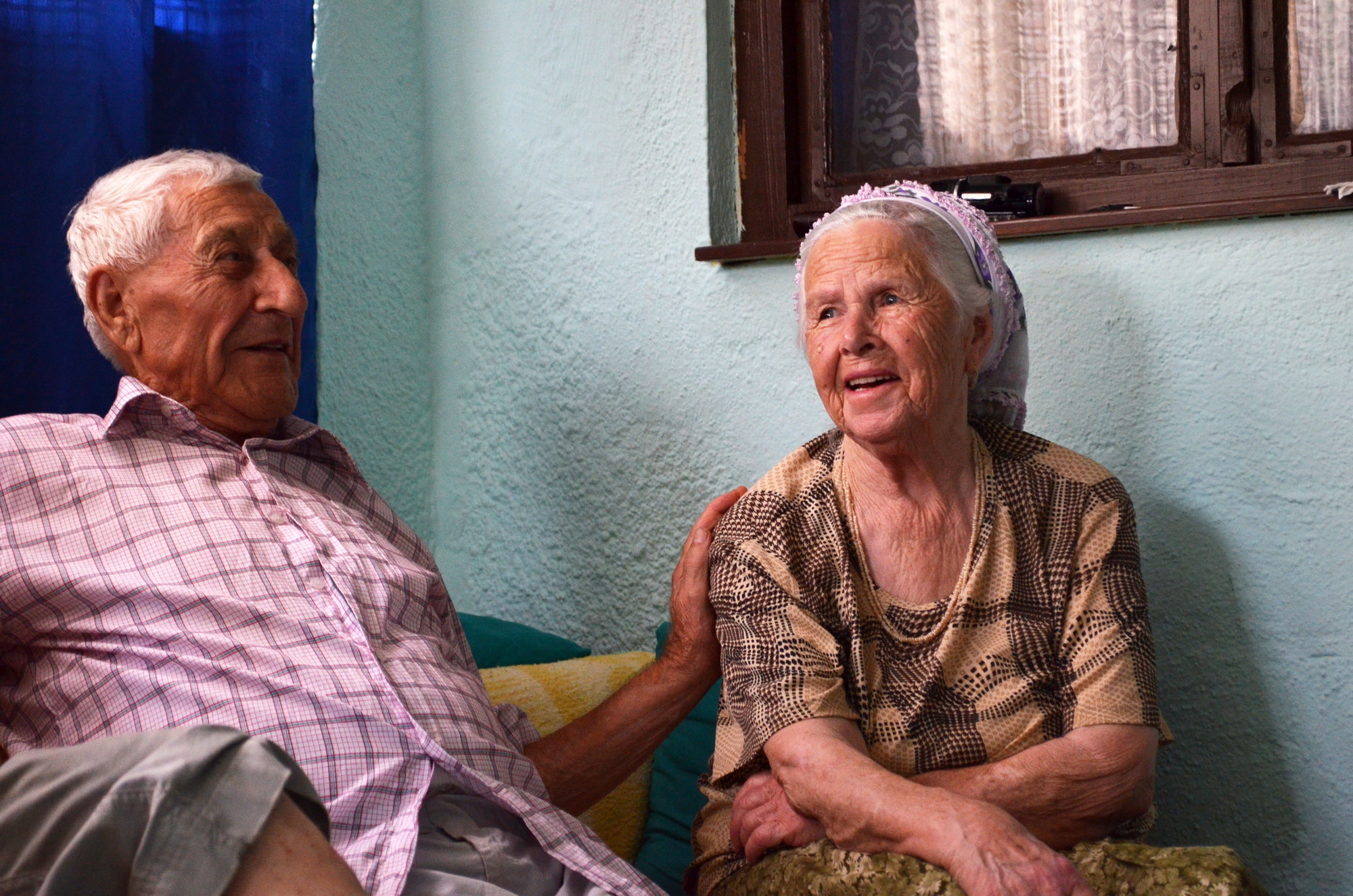 Omanovic and her husband are happy when Islamic Relief visits them.